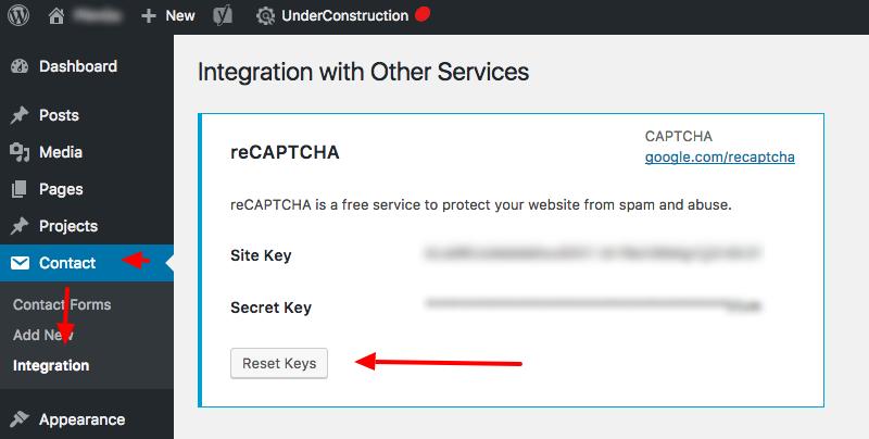 Google recaptcha generate api key example